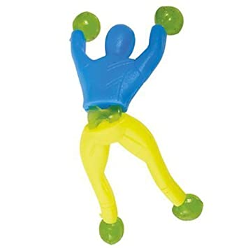 Window Crawler/Wall Walker novelty toy pack of 6 Party Bag Fillers 86948UNQ-tys-6