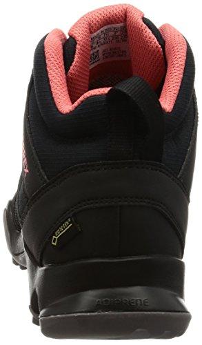adidas Terrex Ax2r Mid GTX W, Zapatillas de Senderismo Para Mujer Negro (Negro - (NEGBAS/NEGBAS/ROSTAC))