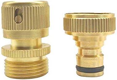 jumpeasy 水栓 アダプター ユニバーサル 3 / 4インチ ブラス パイプタップ ガーデン ウォーターホースクイックコネクター