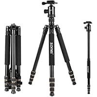 Zomei 65 Tripod Monopod with Z818 Series Quick Release Plate Lightweight Professional Compact for Canon Nikon Sony DSLR Camera
