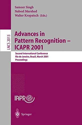 Advances in Pattern Recognition - ICAPR 2001: Second International Conference Rio de Janeiro, Brazil, March 11-14, 2001 Proceedings (Lecture Notes in Computer Science) by Springer