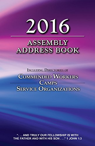 2016 Assembly Address Book: Including Directories of Commended Workers, Camps, & Service Organizations