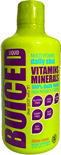 BUICED Liquid Multivitamin, 1-Pack, Gluten Free, GMO Free, Allergen Free, Soy Free, BPA Free.