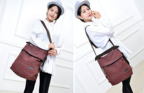 for Shoulder Women Blue Work Bag DcSpring Canvas School Vintage Backpack Body Travel Bag Handbag Cross Retro 5PqfC1xS