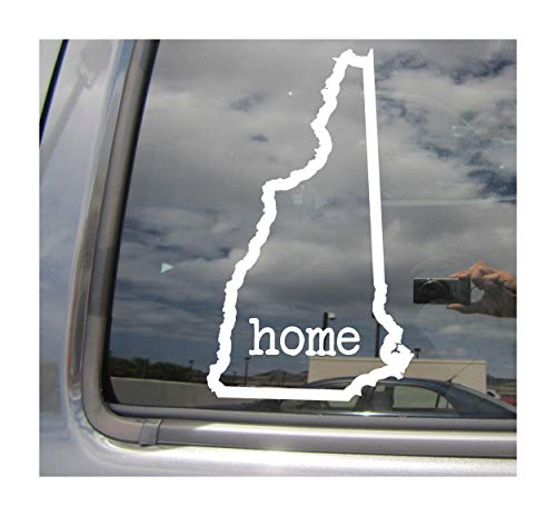 - New Hampshire State Home Outline - NH Concord Manchester State USA America - Cars Trucks Moped Helmet Hard Hat Auto Automotive Craft Laptop Vinyl Decal Store Window Wall Sticker 07032