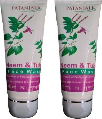 Patanjali Neem & Tulsi Face Wash 60gm (Pack of 2) by Divya Patanjali