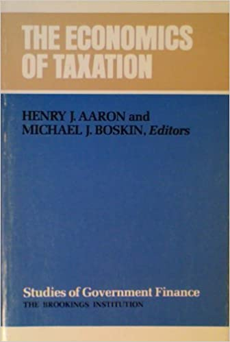 Economics of Taxation (Studies...