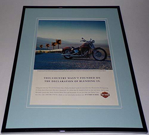 2005 Harley Davidson Motorcycles Framed 11x14 ORIGINAL Advertisement Blend - Motorcycle Blend
