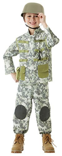 Boys Combat Soldier Costume - Large