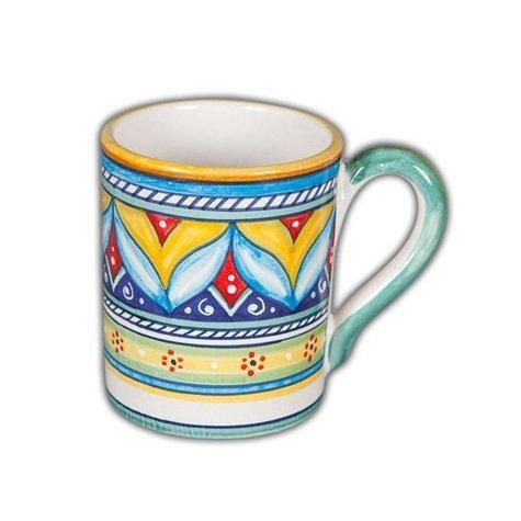 Hand Painted Italian Ceramic Mug Geometrico - Handmade in Deruta