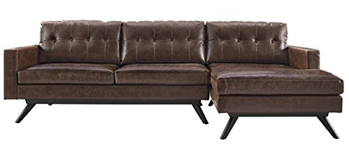 TOV Furniture Blake Antique RAF Sectional, Chestnut (Raf Chaise Sectional)