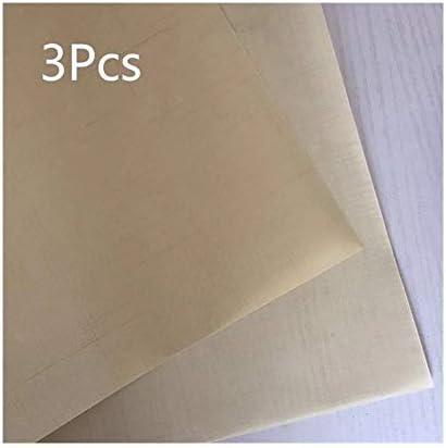 XZJWL 3枚/セット40 * 60センチメートルベーキングマット再利用可能なテフロンシート耐熱クラフトマット防油紙ノンスティックベーキングマットBBQベーキングツール (Color : Beige 3pcs)