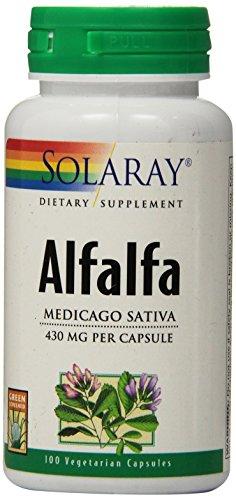 Solaray Alfalfa, 430 mg, 100 Count