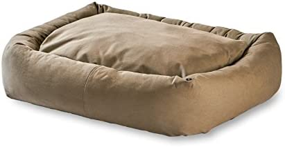 Happy Hounds Max Rectangle Indoor Outdoor Bumper Dog Bed, Large X-Large, Greystone