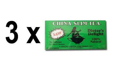 3 Pack of China Slim Tea Super Slim Dieter