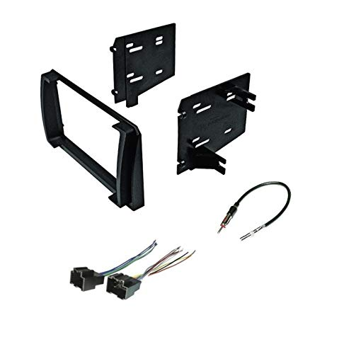 Premium Car Stereo Install Dash Kit, Wire Harness, and Antenna Adapter for Installing an Aftermarket Double Din Radio for 2009-2010 Pontiac Vibe