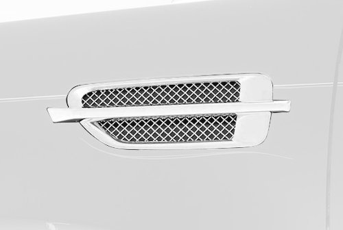 TRex Grilles 54199 Upper Class Small Mesh Stainless Polished Finish Side Vent Insert for Cadillac Escalade
