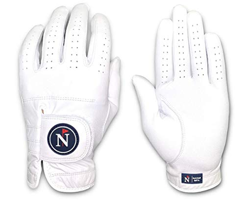 (North Coast Golf Co.- Men's Premium Golf Glove, Pure Cabretta Leather (Left Hand XL, The Whitecap)