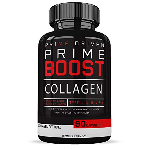 Triple House Deals Pure Collagen Peptides Capsules - Healthy Skin & Hair for Women & Men - Supports Bones & Joints - Hydrolysate Collagen Supplements - Non-GMO - 90 Capsules ()