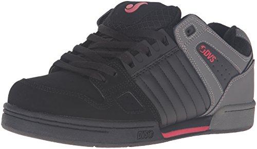 DVS Men's Celsius Skateboarding Shoe, Black/Grey/Red, 12 M US by DVS