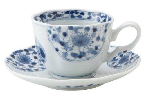 AiRin-do flower Imari RI coffee bowl / (Imari Coffee Saucer)