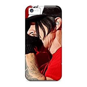 RudyPugh Iphone 5c Shockproof Hard Cell-phone Cases Custom Beautiful Red Hot Chili Peppers Pattern [BIx11045HpTl]
