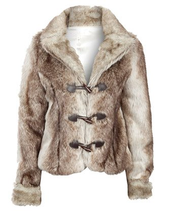 Miso Faux Fur Jacket - Brown - Womens - 18: Amazon.co.uk: Clothing