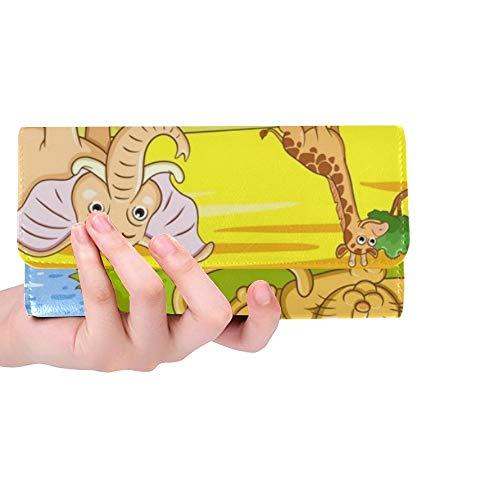 - Unique Custom White Wine Close Women Trifold Wallet Long Purse Credit Card Holder Case Handbag