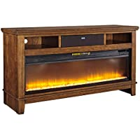Signature Design by Ashley W594-68 Ralene TV Stand with Open Media Storage, Medium Brown
