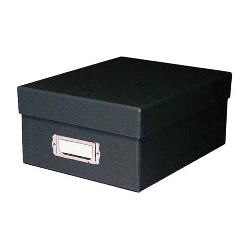 Print File Shoe Box Archival Print Storage Box, Holds Approximately 1000 4x6'' Prints, Black Exterior. by Print File