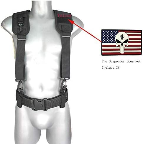 Tactical Duty Belt Harness Padded Adjustable Tool Belt Suspenders with Key Chin