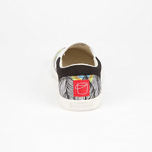 Green Shoes White 8 BUCKETFEET Black Peacock Womens wqnRav