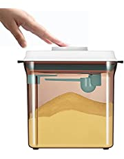 Airtight Pop Up Food Storage, Pop Up Cereal Container with Spoon, Milk Powder Formula Dispenser Scraper Household Small Refrigerator Plastic Food Fresh-Keeping Box Lunch Containers.