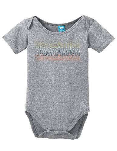 Bloomington Minnesota Retro Printed Infant Bodysuit Baby Romper Gray 18-24 - Mall America Bloomington Of