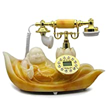 European Antique Telephone Retro Telephone Fixed Landline Fashion Creative Classical Maitreya Telephone,Gold
