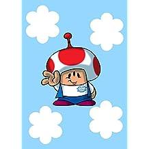 """Plumbing Story"" Alien Mushroom Character Funny Video Game & Children's Cartoon Movie Parody - Rectangle Refrigerator Magnet"