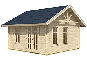 Cabaña Madera listones Casa Toronto 170plus, 420x 420cm