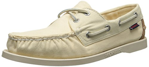 Biege Leather (Sebago Women's Spinnaker Oxford, Biege Canvas/Tan Leather, 9.5 M US)