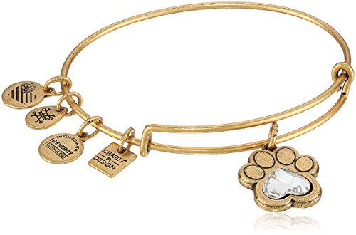 (Alex and Ani Charity By Design, Prints of Love Expandable Rafaelian Gold Bangle Bracelet )