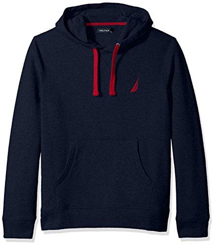 Nautica Men's Chest Logo Pullover Hoodie Sweater, -navy, ...