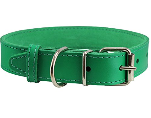 Genuine Leather Collar Green Sizes product image