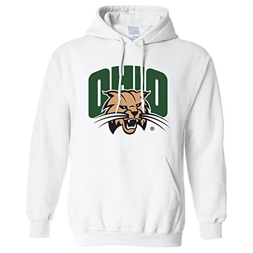 Campus Merchandise NCAA Ohio Bobcats Long Sleeve Hoodie, X-Large, White
