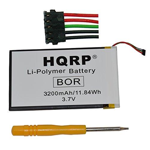 HQRP Battery for Barnes & Noble NOOK Color E-Book Ereader BNRV200 BNTV250A DR-NK02 6027B0090501 AVPB001-A110-01 3970125-L40 BNTV250 6027B0107101 M1203000918 Digital Book Reader Tablet + Coaster