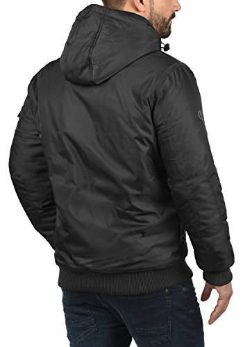 Black Chaqueta Capucha Entretiempo Hombre 9000 Solid De Bettino para Abrigo con 1qFgzFU