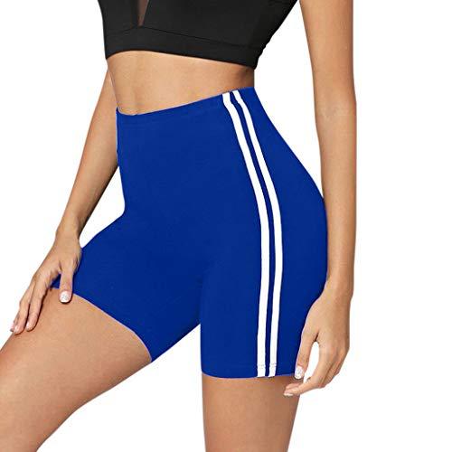 Women's Mid Waist Yoga Side Stripe Fitness Pants Hips Tight Yoga Shorts]()
