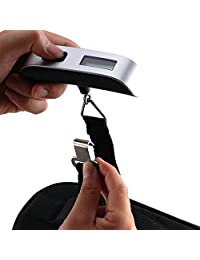 Portable Digital Luggage Scale Gadget Weighing Suitcase 110lbs Pounds with Temperature Sensor and Tare Function