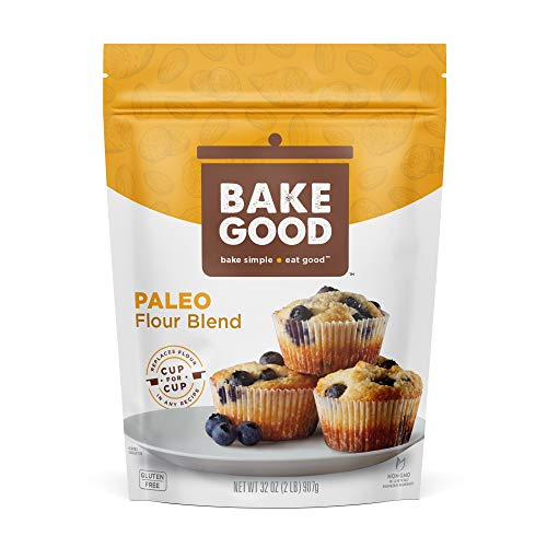 BakeGood Paleo Flour Blend, 2lb, 1-to-1 Replacement for All Purpose Flour,...