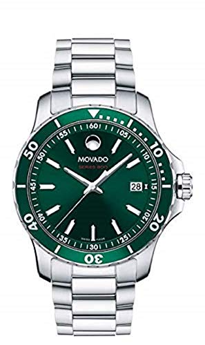 - Movado Series 800, Stainless Steel & Aluminum Case, Green Dial, Stainless Steel Bracelet, Men, 2600136