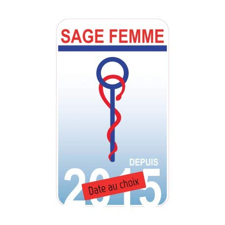 Caducé e Sage-Femme Date vautocollant Bearn