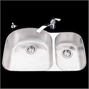 High Quality KINDRED Crown Double Bowl Undermount Kitchen Sink SS